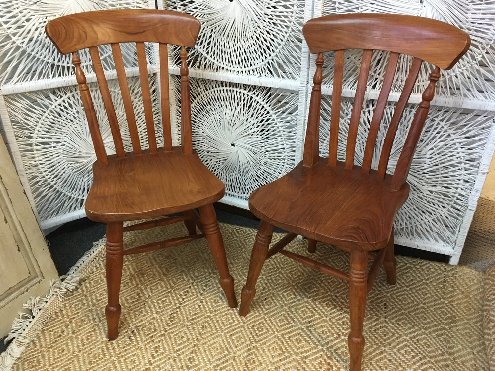 Light Brown Wooden Chairs