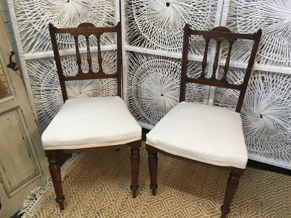 Dark Brown Ornate Chairs