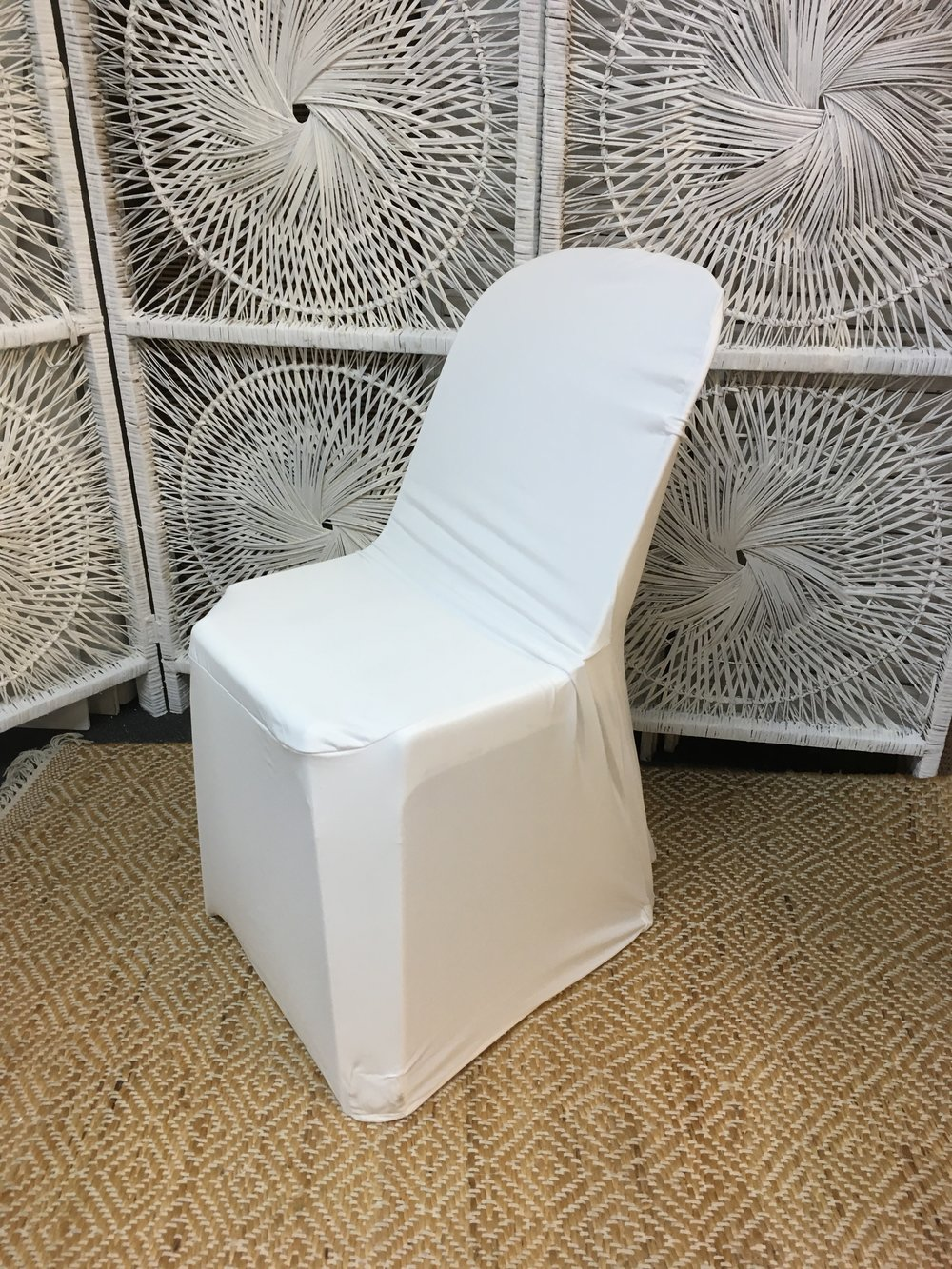 Plastic Chair with Lycra Cover
