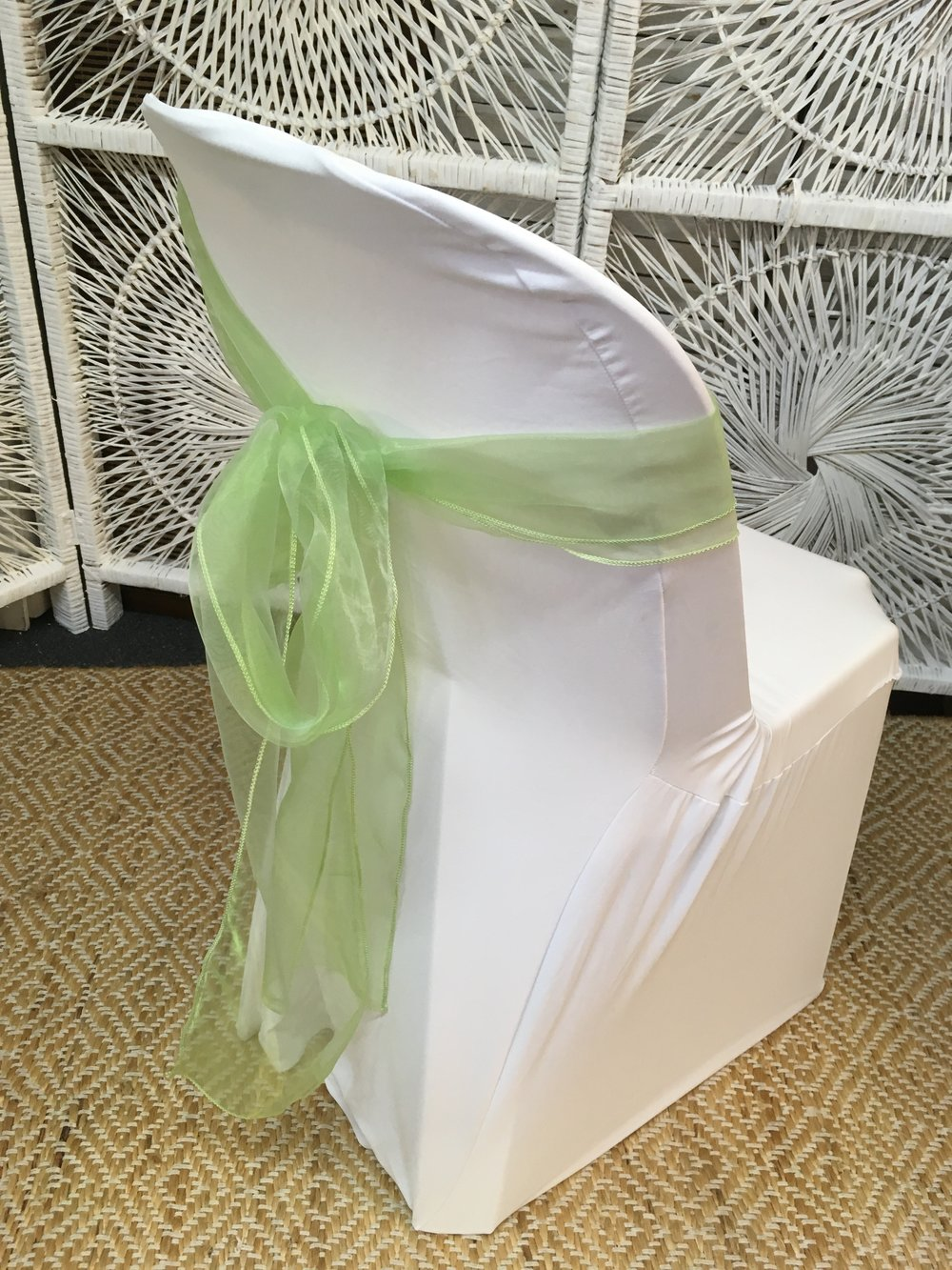 Plastic Chair with Lycra Cover and Sash