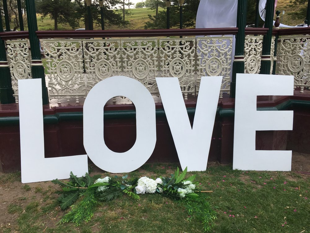 Large LOVE Letters - Hire for $20