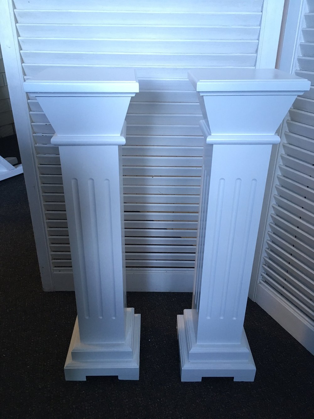 Mini White Pillars - Hire 2 for $40