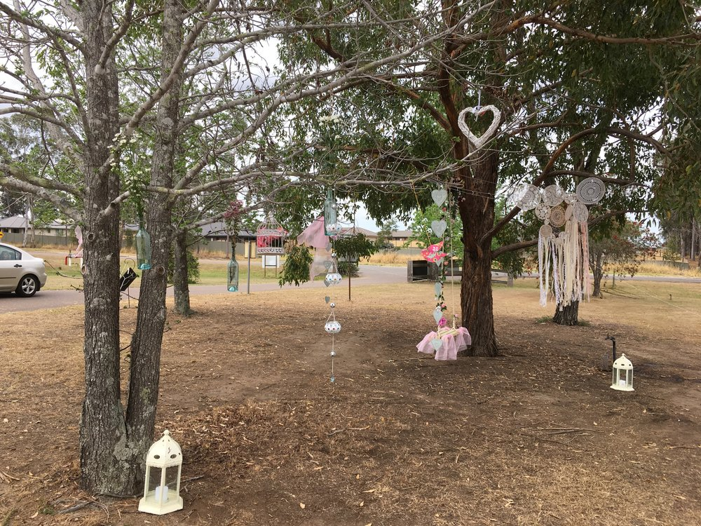Decorations in trees