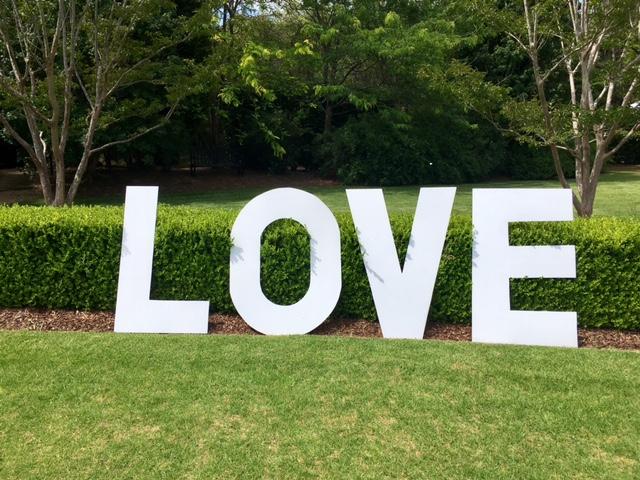 Large love letters