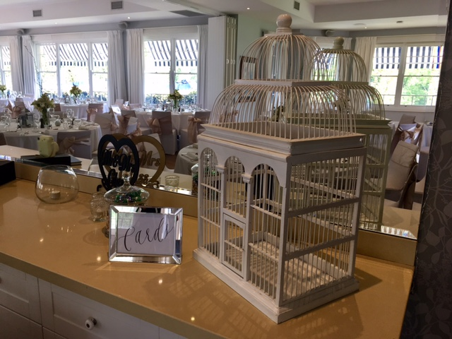Bird cage wishing well