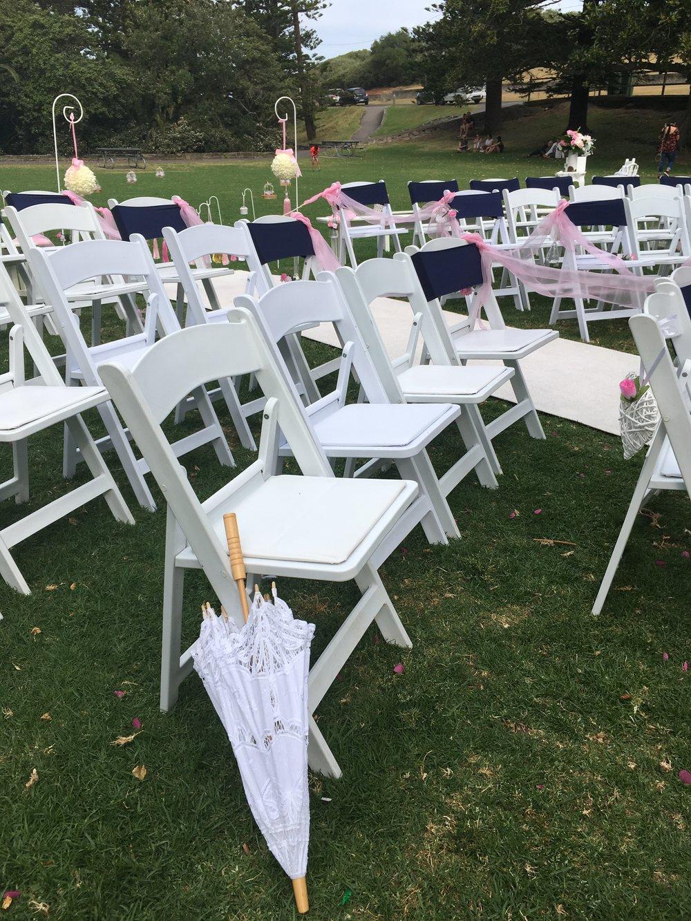 Americana chairs ceremony