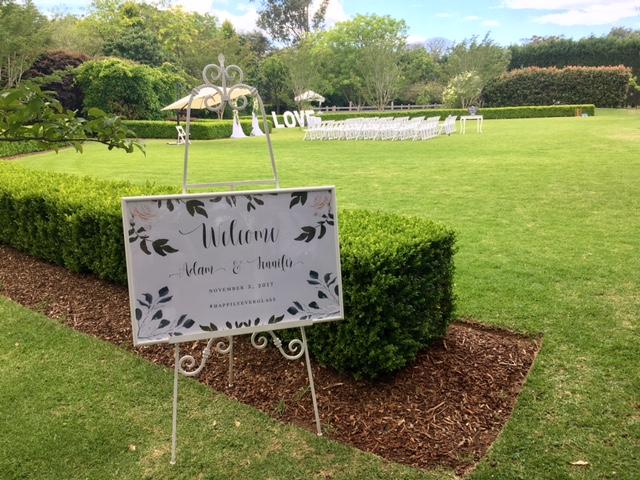 Wedding sign easel
