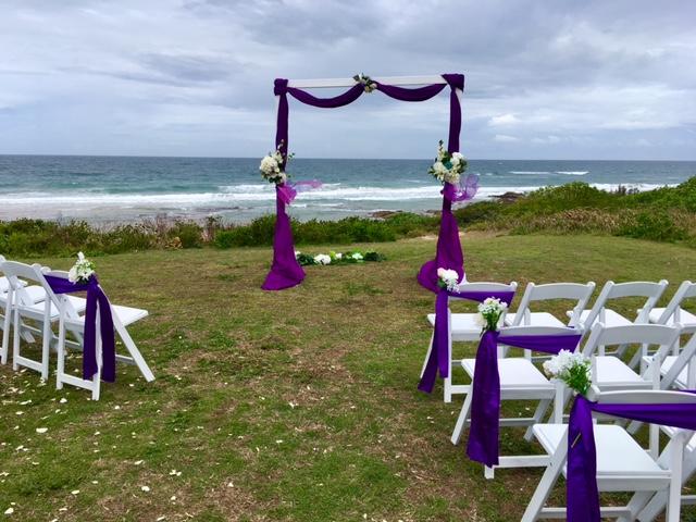 Cadbury purple themed wedding