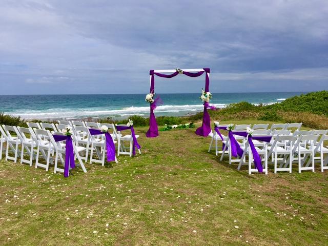 Wedding ceremony Shelly Beach