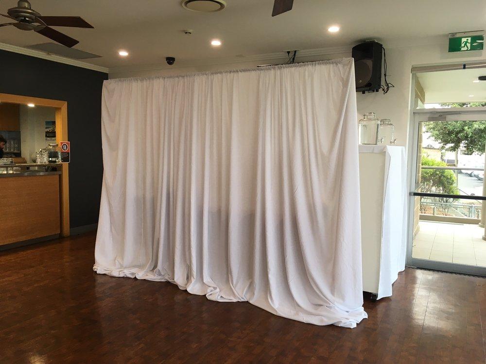 Wedding backdrop draping