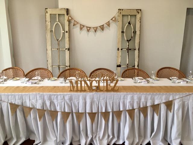 Wedding reception Splash Terrigal