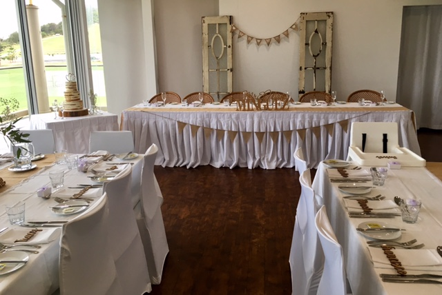 Chair covers reception