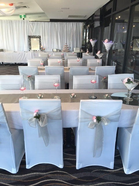 Chair covers and table decorations