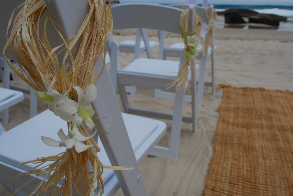 Chair decoration - rattan with orchard