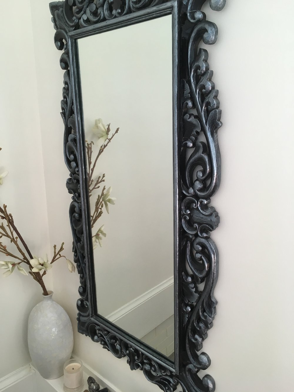 Large mirror to write message on