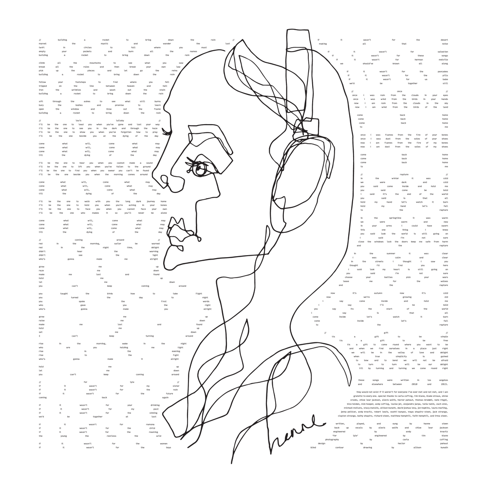 Album design by Hector Pahaut // Blind contour drawing by Allison Kunath