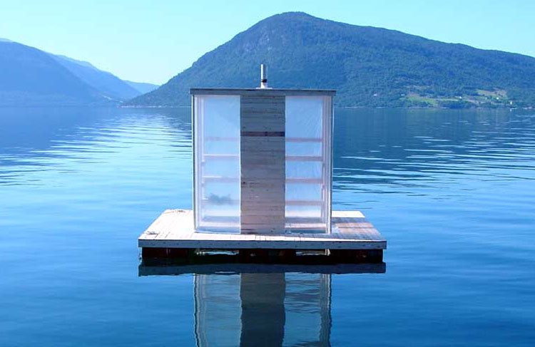 Floating Sauna in Rosendahl, Norway