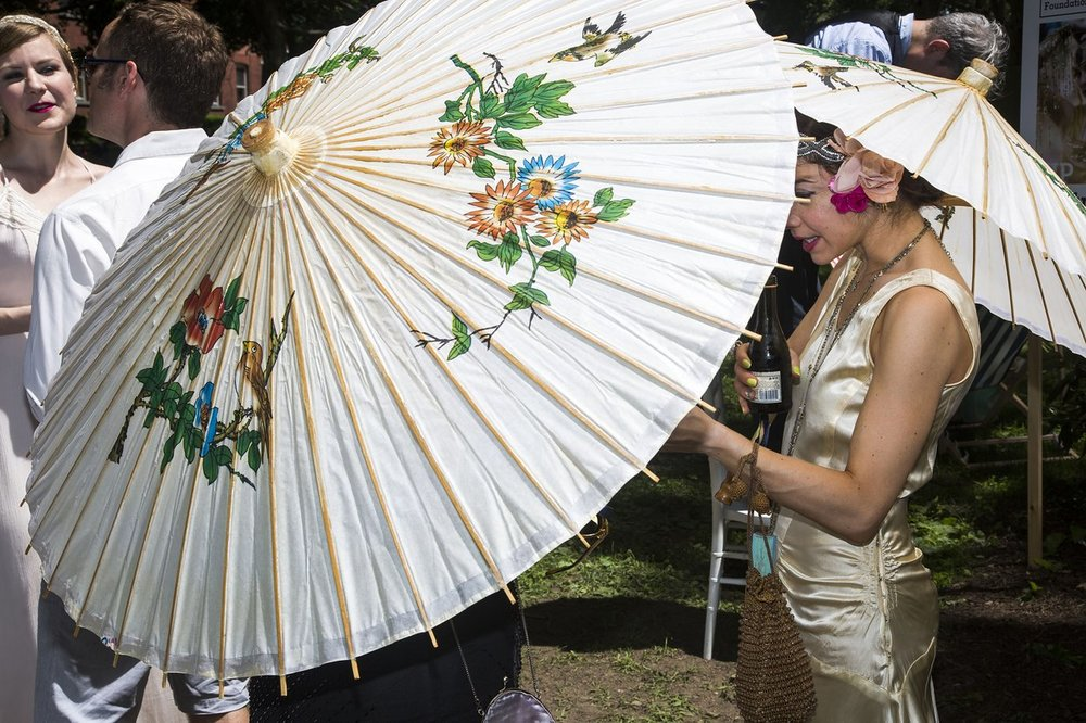 Silk Painted Parasols