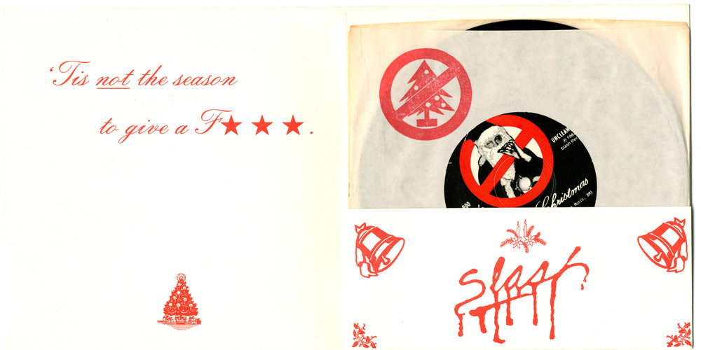 Fear Fuck Christmas Single w/Slash Christmas Card Sleeve
