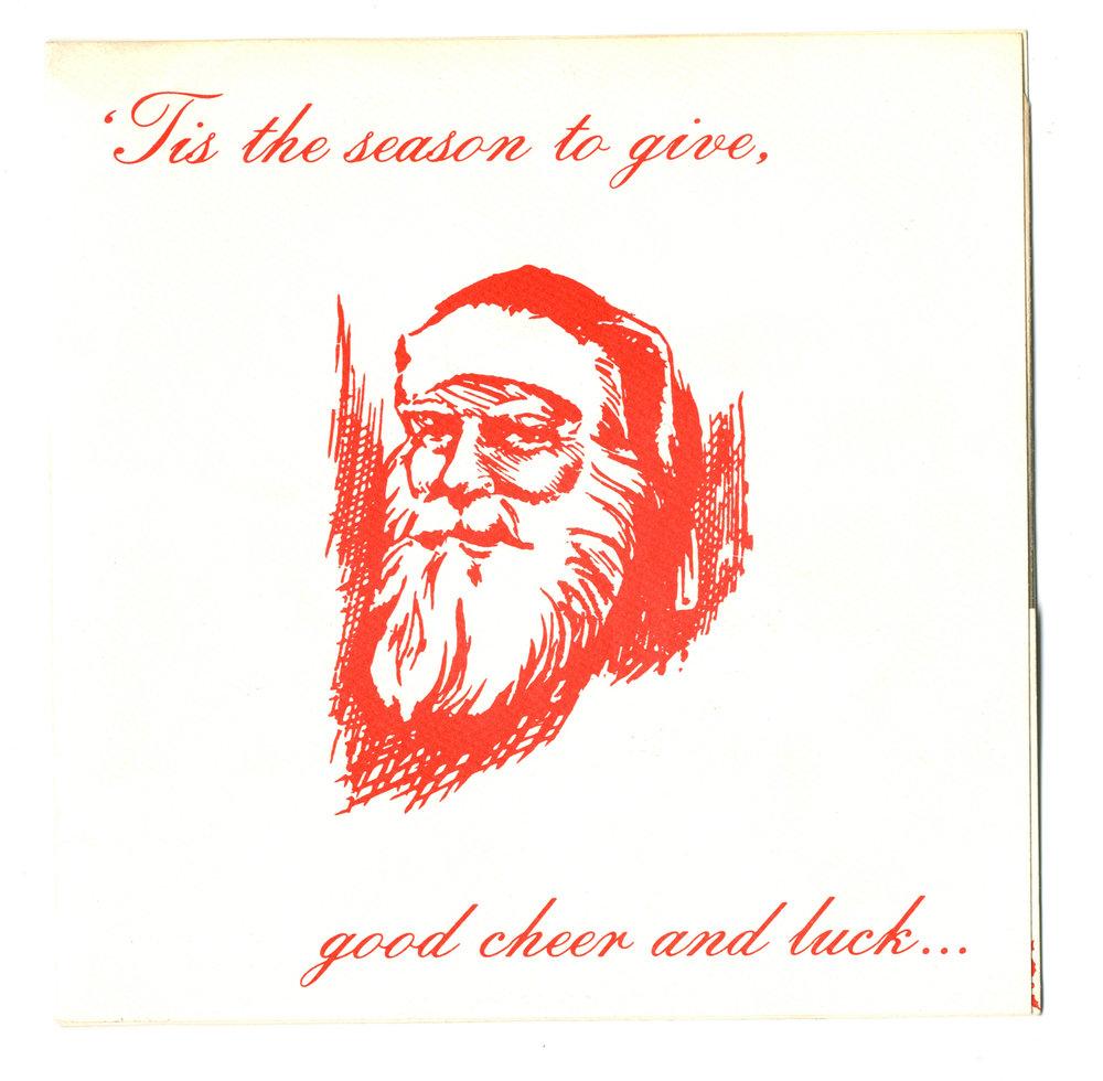 Fear Fuck Christmas Single w/Slash Christmas Card Sleeve