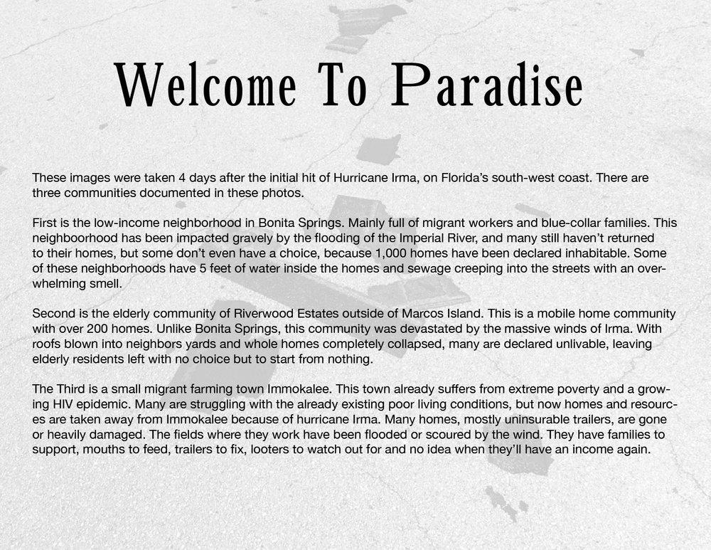 Robert LeBlanc Hurricane Irma %22Welcome To Paradise%22-1.jpg