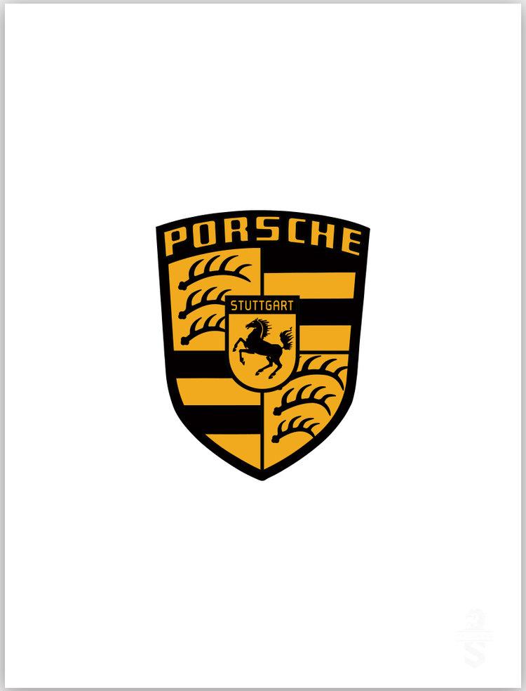 The Air Factor Shop Orange Porsche Logo Decal Porsche Car Decal