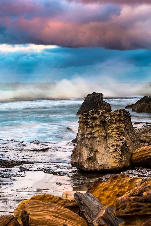 scattered rocks