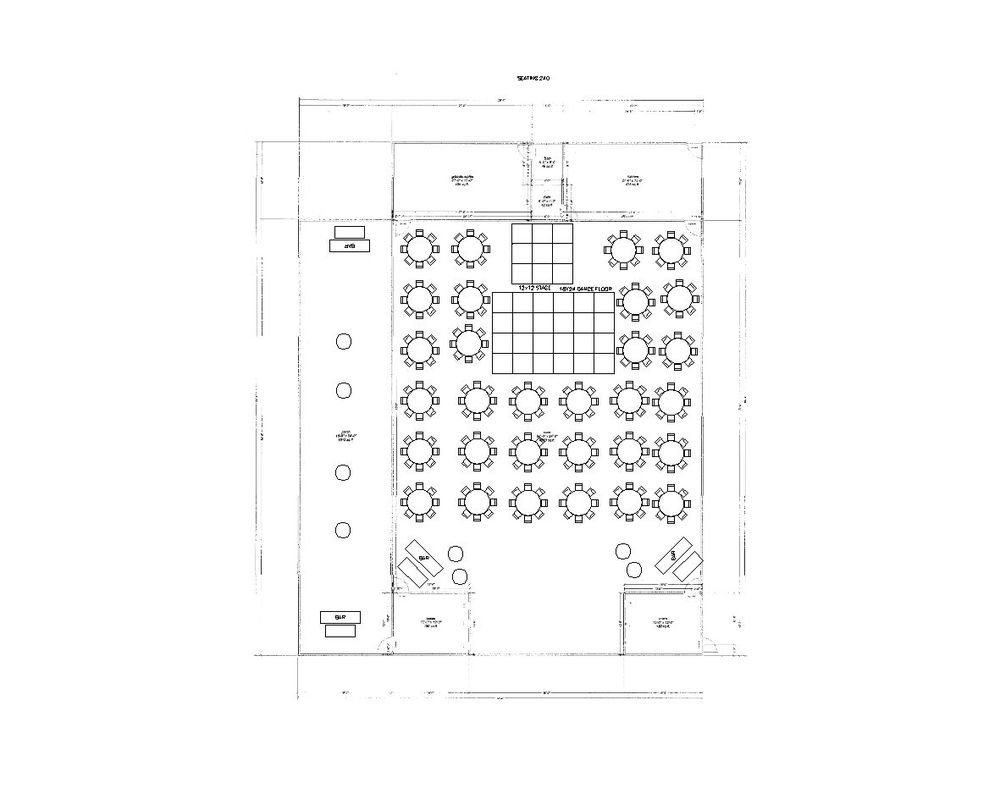240 Guests Reception Layout