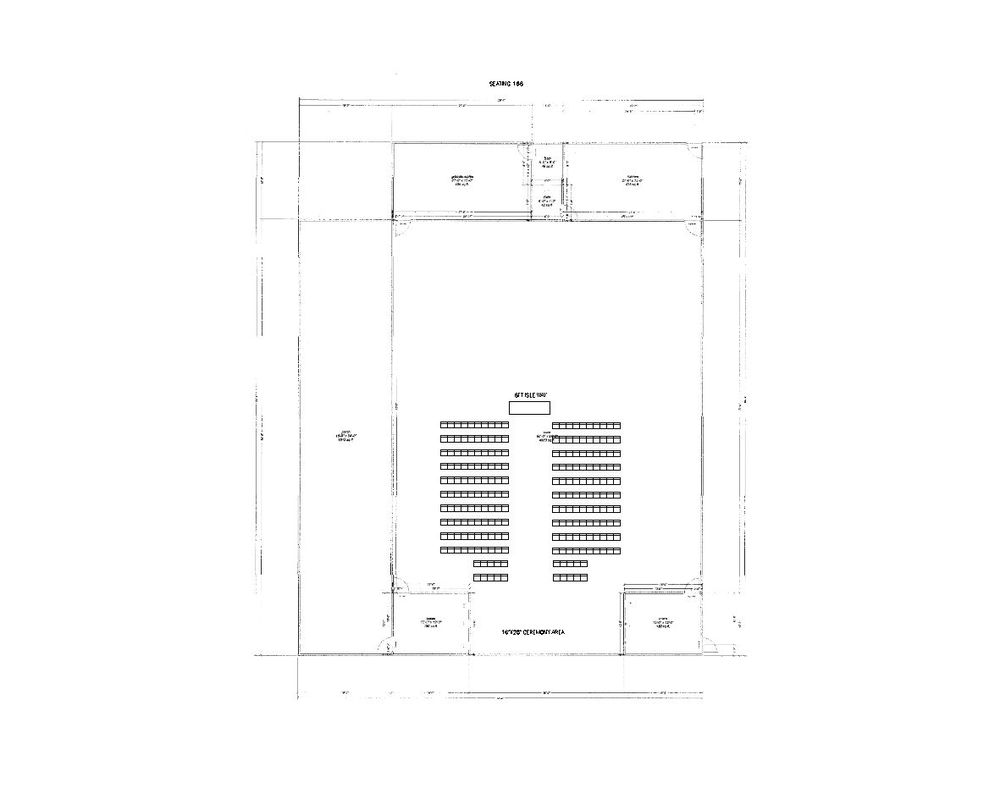200 Guests Inside Ceremony Layout