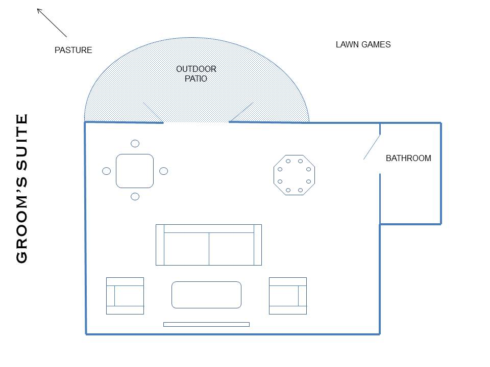 Grooms Suite Layout - Attached to Venue