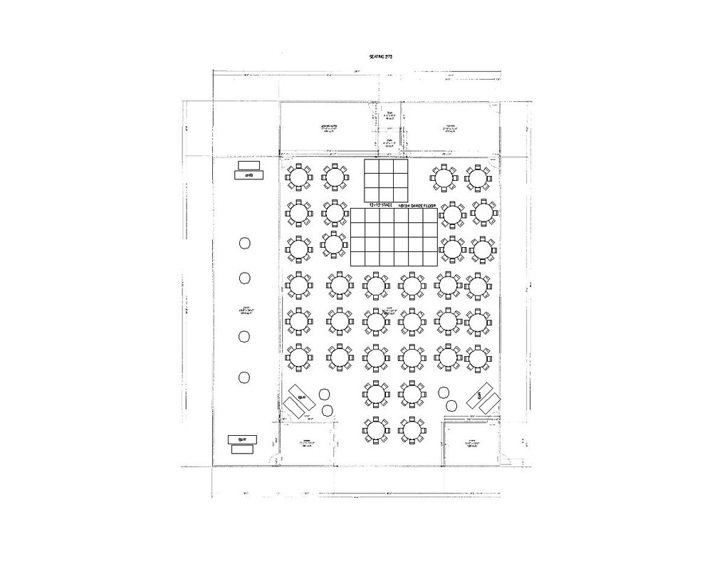 272 Guests Reception Layout