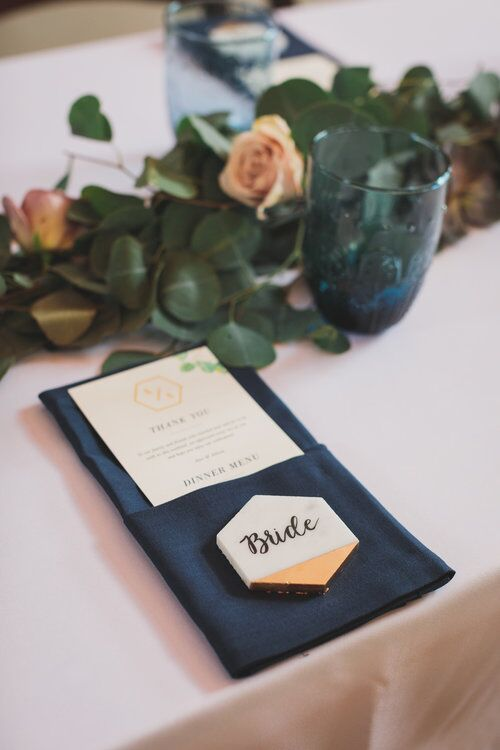 Marble escort card for the win!