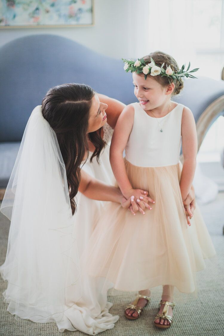 The flower girl of course needs a flower crown by  The Bloom Bar