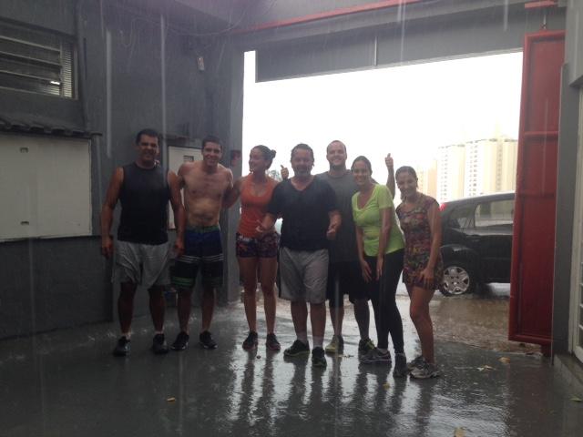 treino na chuva
