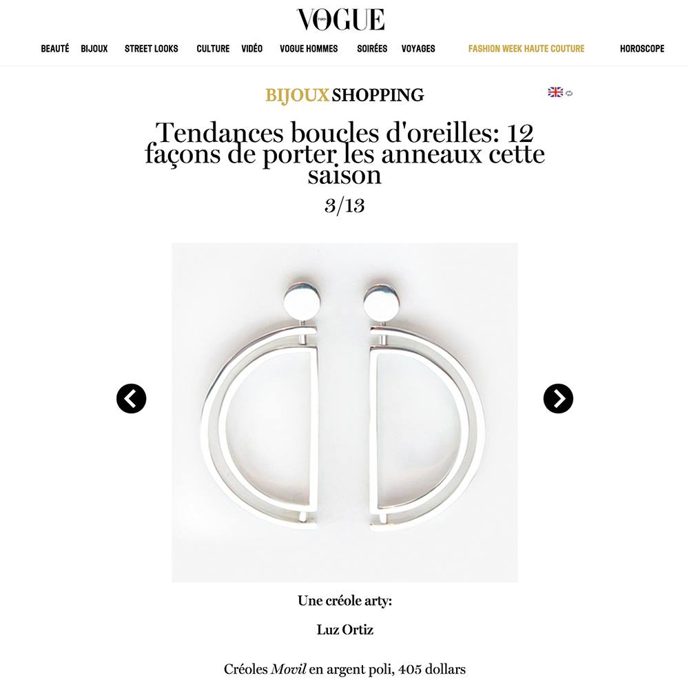 Vogue Paris | Movil Earrings