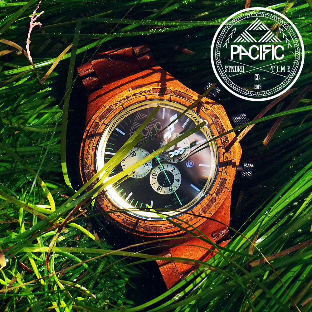 The Milo Wood Oceania Watch by Pacific Standard Time Co. Taken under water in the Pacific Ocean.