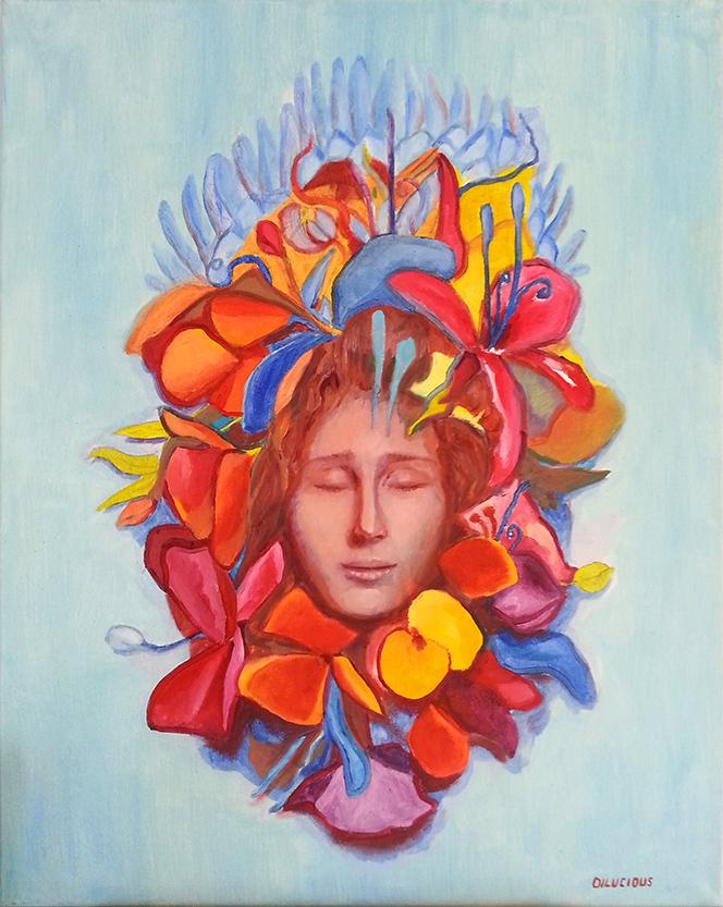 """Meditating woman"""