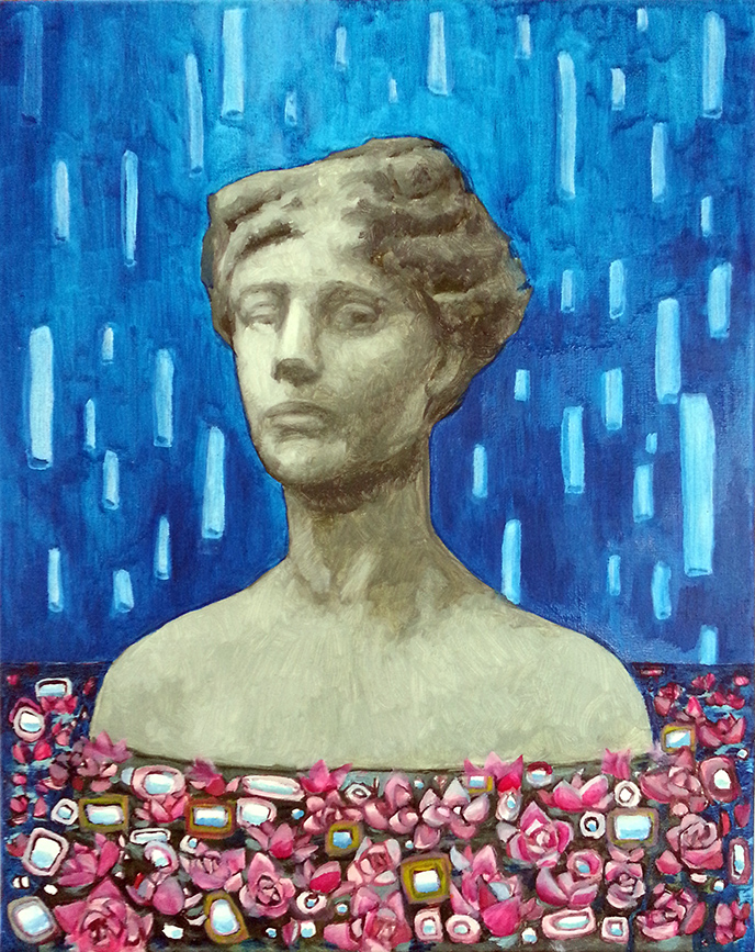 """Woman with flowers"""