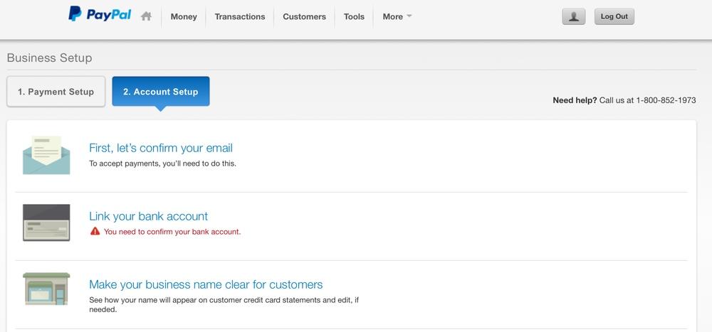 PayPal Accnt Setup