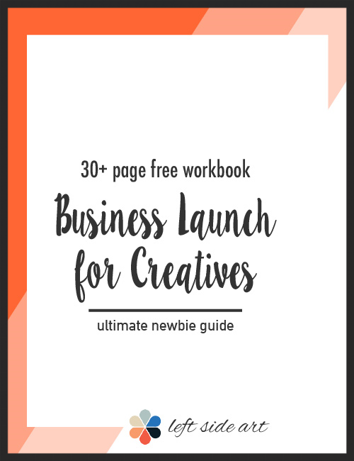 Free 30+ Page Workbook: Business Launch for Creatives.  Get clarity on your business focus, who your competitor really is, a few key website strategies that will attract more visitors, and effective marketing methods that anyone can do. Click through to download your free workbook!