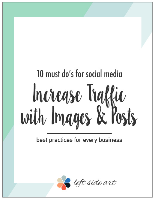 10 Must Haves for Every Image You Post to Social Medial: Best Way to Share Your Art Online - left side art