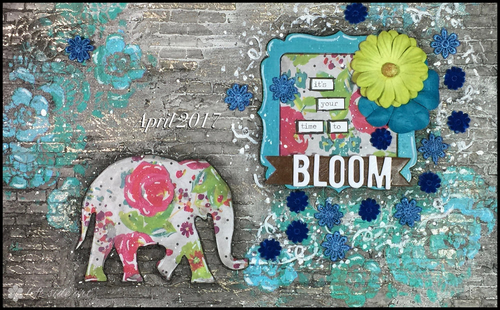 It's your time to bloom - left side art
