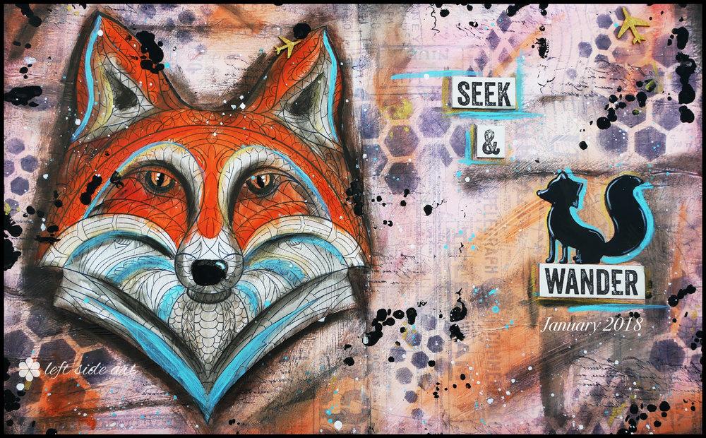 Jan 2018 Inspirational computer/phone/tablet background - left side art