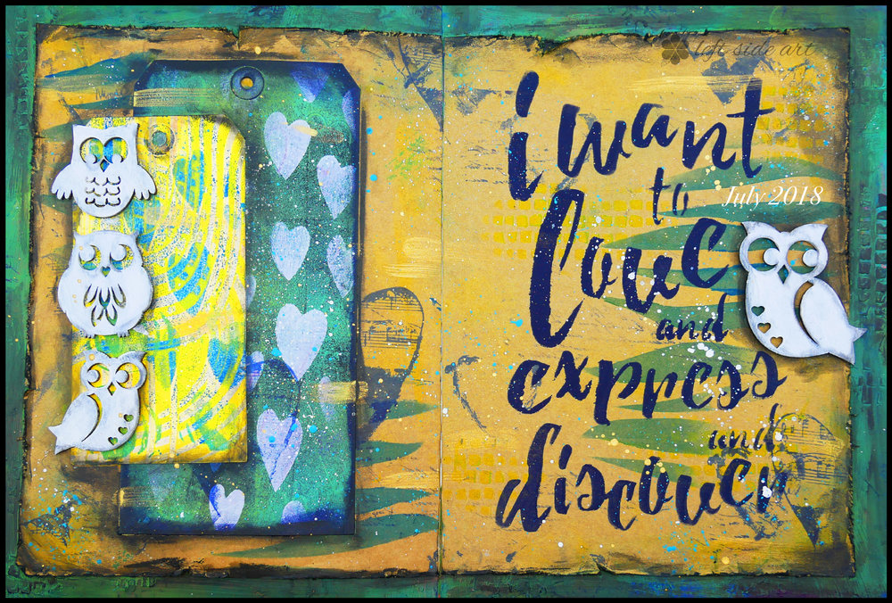 Left Side Art - July 2018 Love Express Discover
