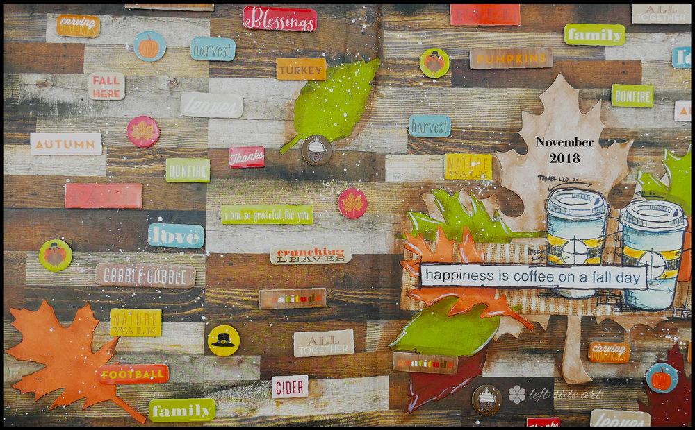 Left Side Art  - monthly inspirational backgrounds