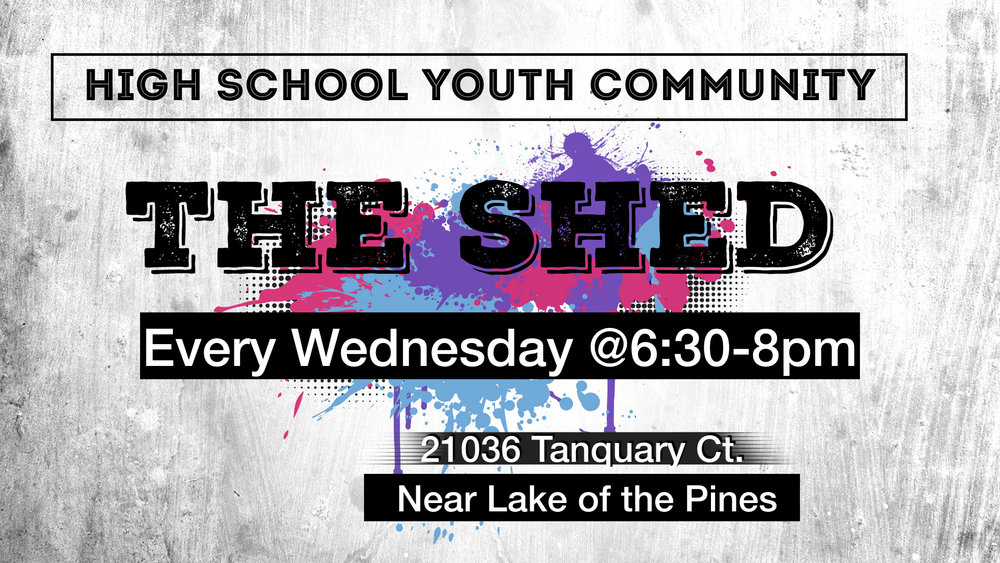 Contact Jack Hickey for more info: (530) 613-0409 or jhickey@goldcountrychurch.org