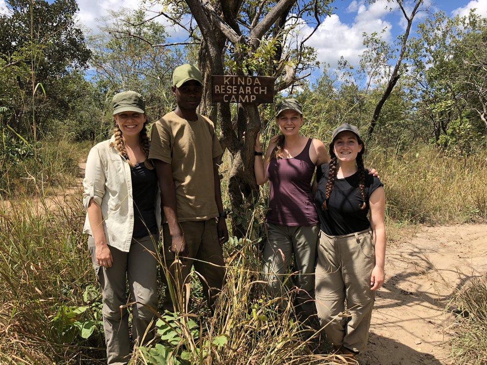 PhD fieldwork team: Me, Simon Siame, Alison Govaerts, Jess Gunson