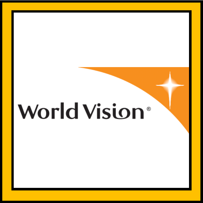 World Vision is a Christian organization working to help communities in third world countries to lift themselves out of poverty. They provide emergency relief; medical, educational, and financial support to children and their families; and use sustainable models to improve the entire community long term.