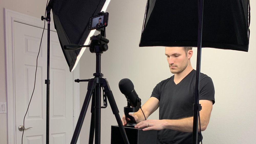My current setup for recording my face. I don't use a camera for my screen capture videos.