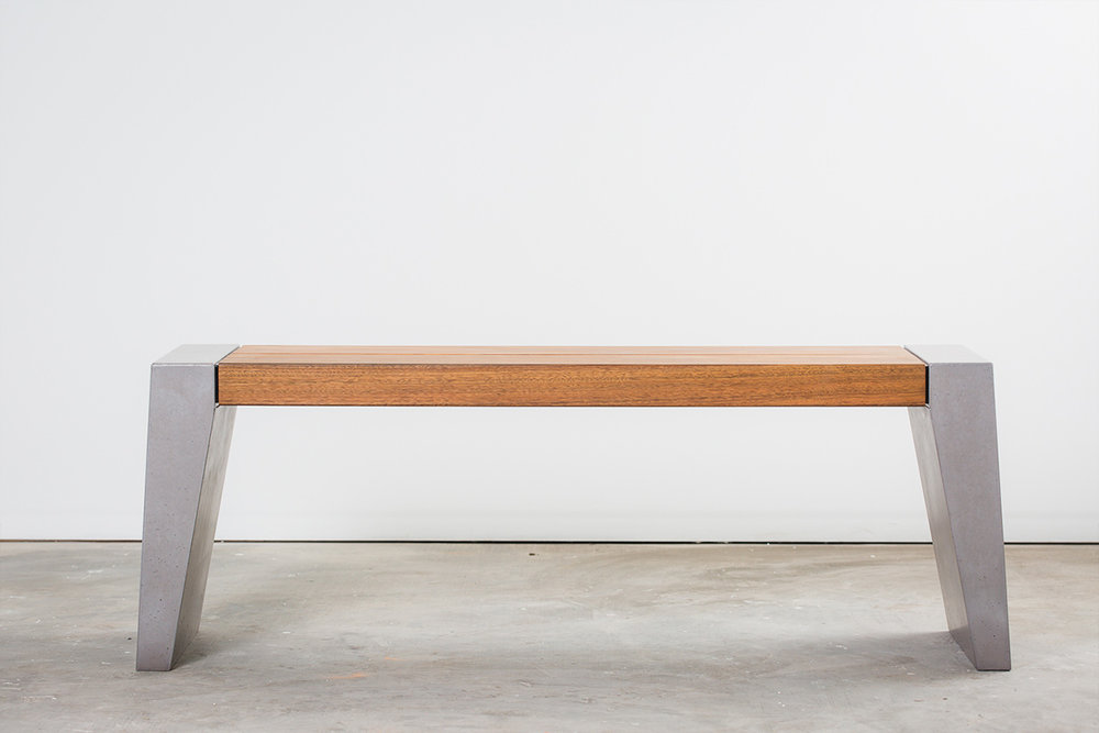 Fiksu Timber and Concrete Bench Seat - 2.5 Seat